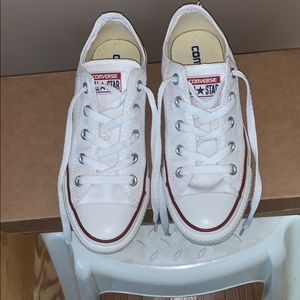 Converse All Star White Canvas Sneakers W6, M4
